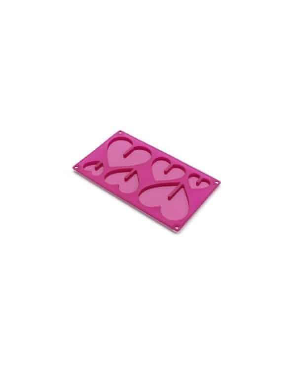 Moule en silicone pour réaliser 3 coeurs en 3D Lékué