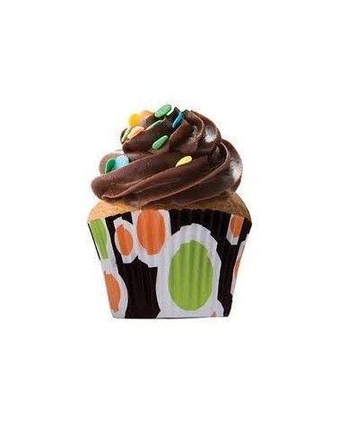 """Moules à cupcakes """"seventies"""" x45"""
