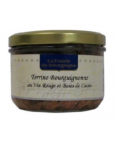 Terrine bourguignonne au vin rouge et baies de cassis 180g