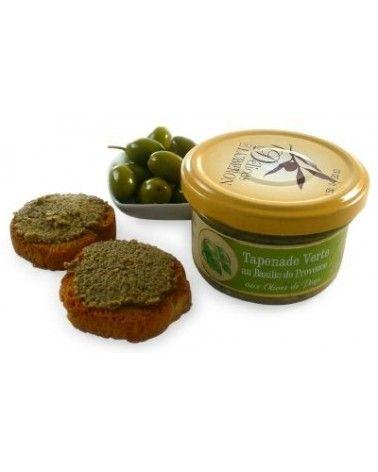 Tapenade verte au basilic de Provence et aux olives de pays 90g