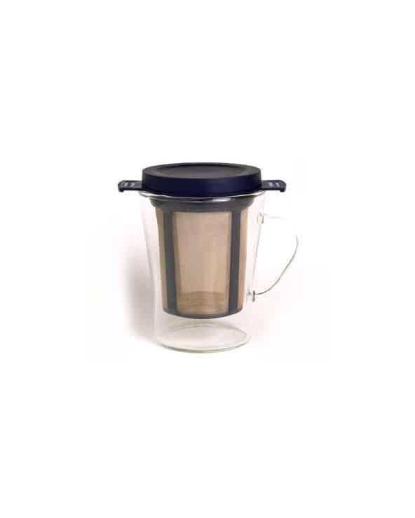 Tasse à thé en verre avec infuseur