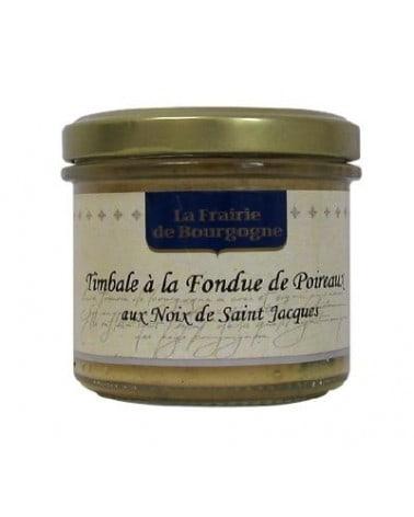 Timbale à la fondue de poireaux aux noix de St Jacques 100g