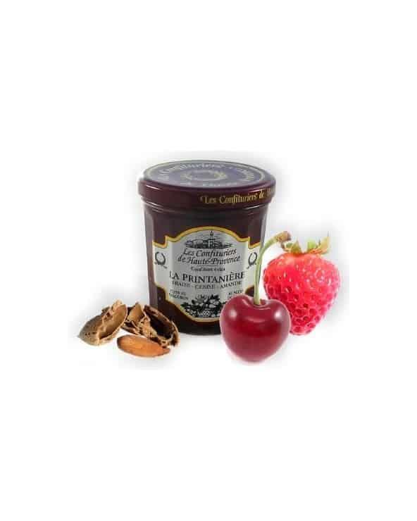 Confiture la printanière (fraise, cerise, amande) 370g