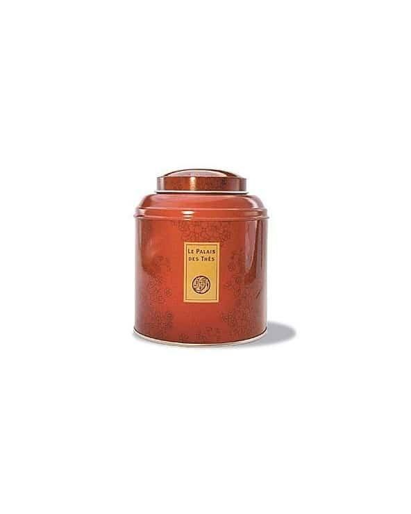 """Boite à thé en métal """"Le Palais des Thés"""" rouge aux motifs chinois 125g"""