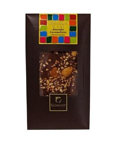 Tablette de chocolat au lait aux amandes caramélisées 85g