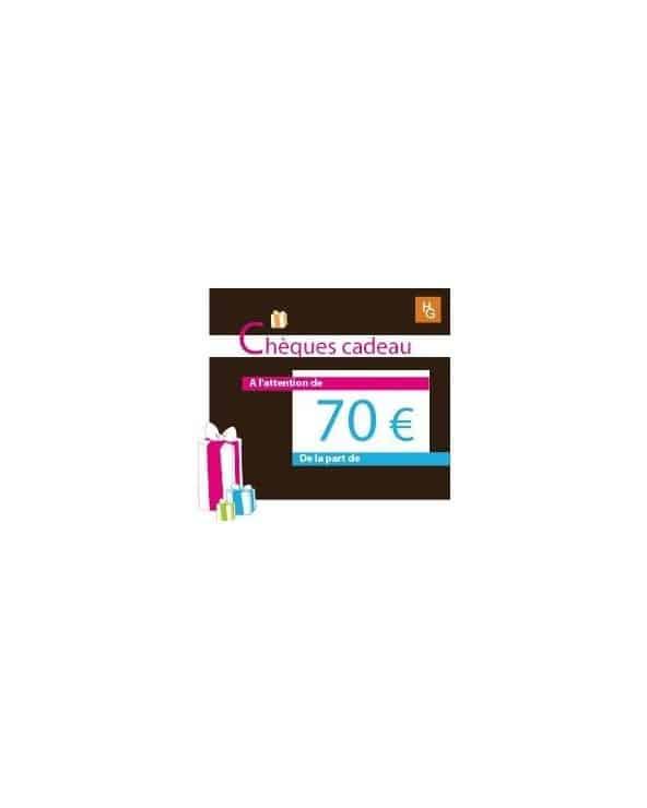 Chèque cadeau 70 euros