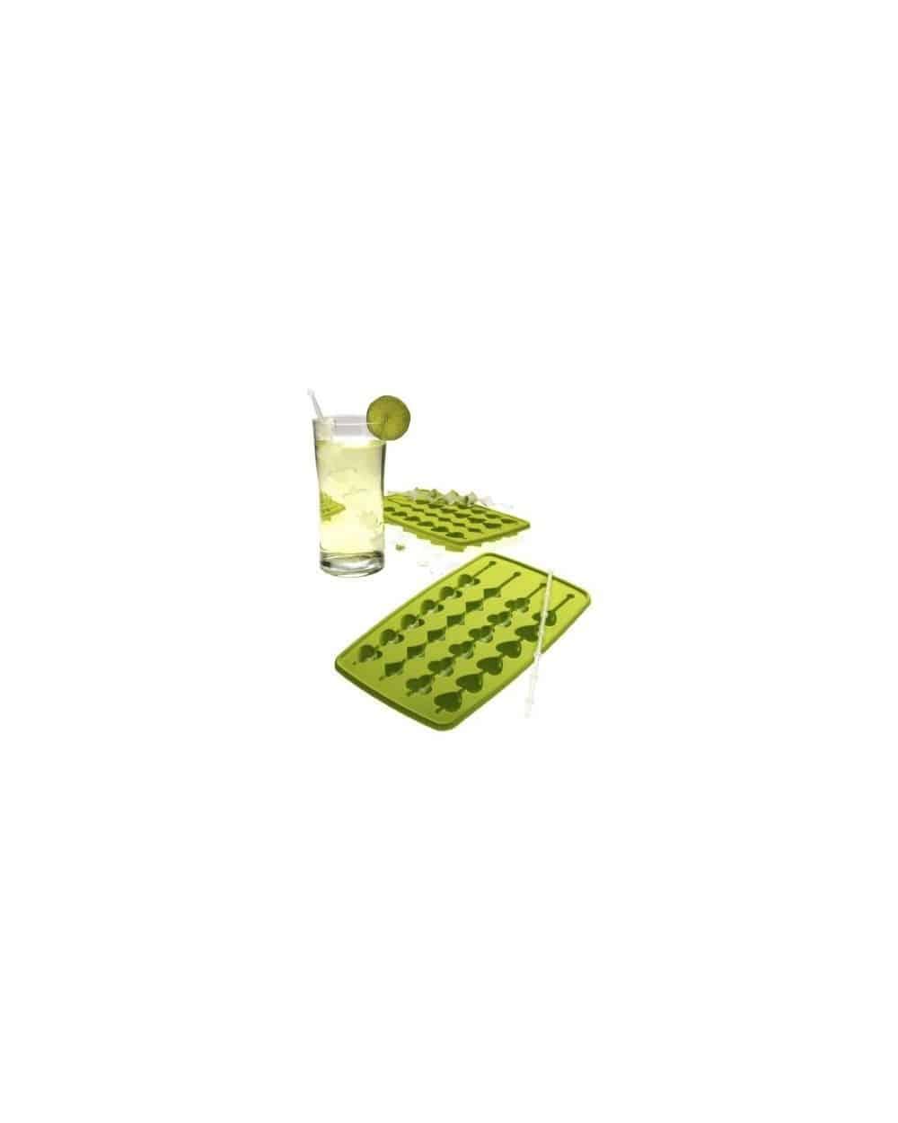 Moule vert souple pour brochettes de glaçons