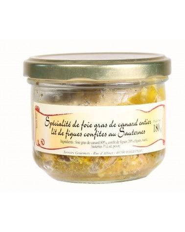Spécialités de foie gras de canard entier au lit de figues confites au Sauternes 180 g