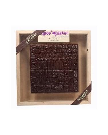 """Coffret Plaque de Chocolat noir """"Bonne Année"""" 200g"""
