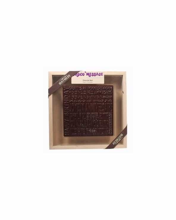 """Coffret Plaque de Chocolat noir """"Joyeux Noël"""" 200g"""