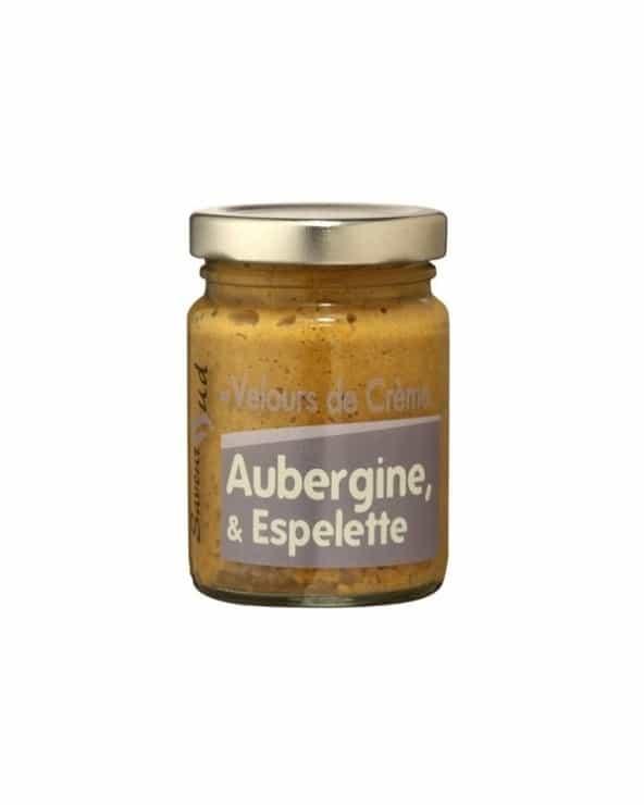 Velours de crème aubergine et espelette  95g