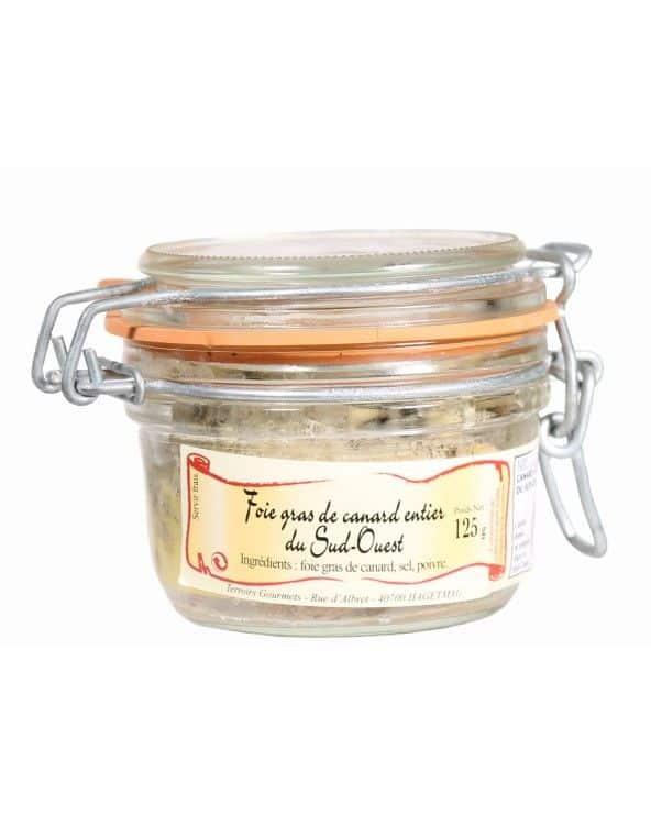 Foie gras de canard entier du Sud-Ouest IGP TG 125g