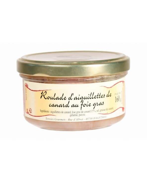 Roulades d'aiguillettes de canard au foie gras 160 g