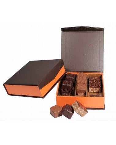 Coffret carré de chocolats fins 125g