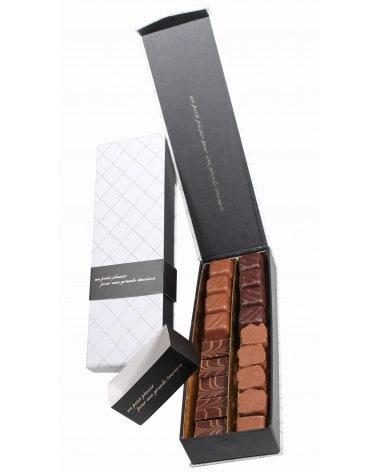Etui plumier blanc de chocolats fins165g