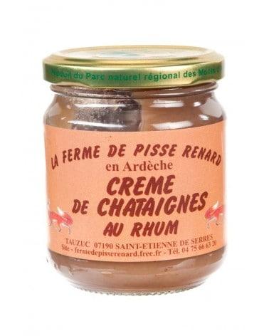 Crème de châtaignes bio d'Ardèche au rhum 250g