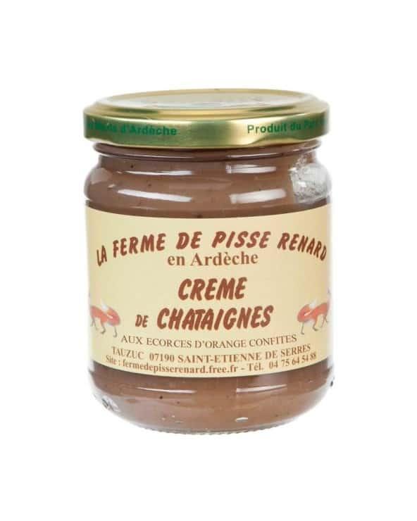 Crème de châtaignes bio d'Ardèche aux écorces d'orange 250g