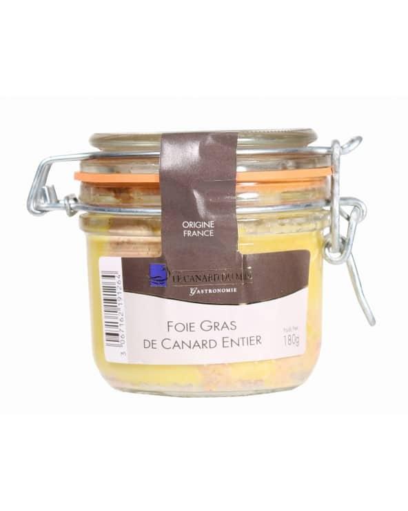 Foie gras de canard entier du Sud-Ouest CDM 180g