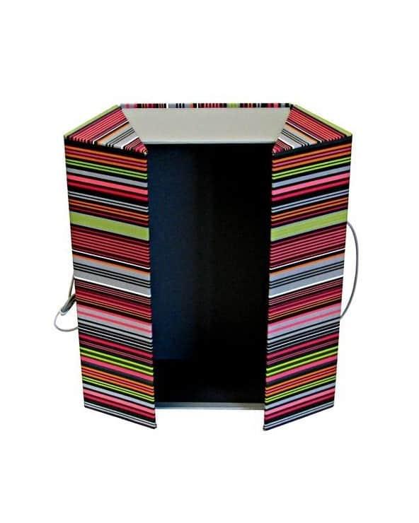 Boîte rectangulaire colorée avec lien de fermeture grand modèle