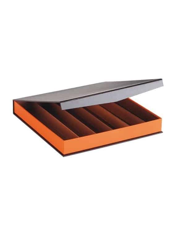 Grand coffret coloris marron/orange