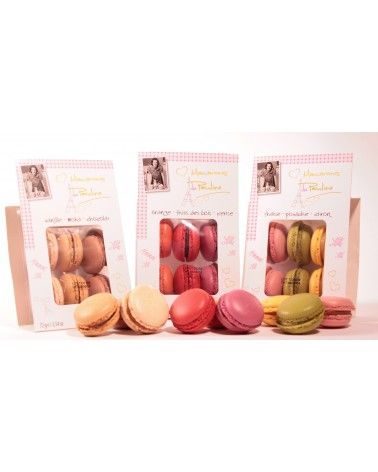 Macarons de Pauline Vanille Moka Chocolat x6