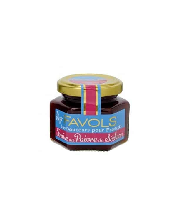 Confit pour fromages Fraise au Poivre de Séchuan 110g