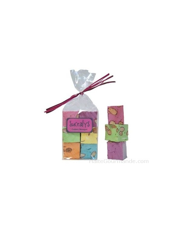6 Cubes nougats parfumés et colorés