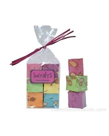 Sachet de 6 cubes nougats parfumés et colorés