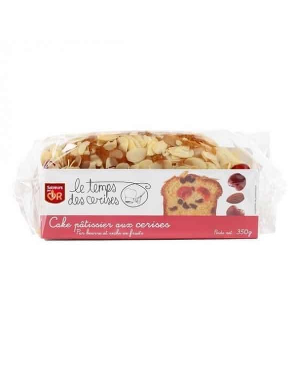 Cake Pâtissier aux Cerises, Raisins, décoré aux Amandes Effilées 350g