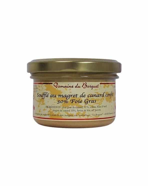 Soufflé au magret de canard confit 30% fois gras 80g