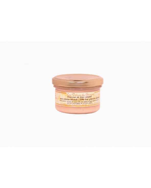 Douceur de foie de canard aux raisins blonds (20% de fg) 80g