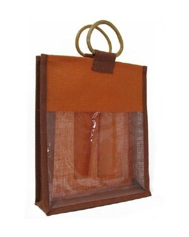 Sac en toile de jute orange
