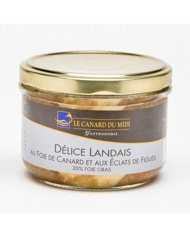 Délice landais au foie de canard (20%foie gras) et aux éclats de figues 180g