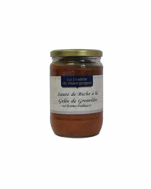 Sauté de biche à la gelée de groseilles sur pommes paillasson 300g