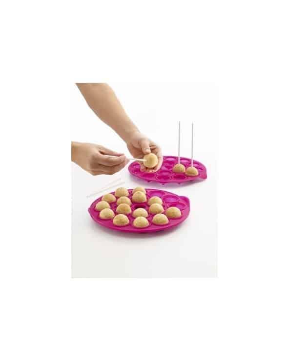 Moule en silicone 18 Cake pops vert anis Lékué