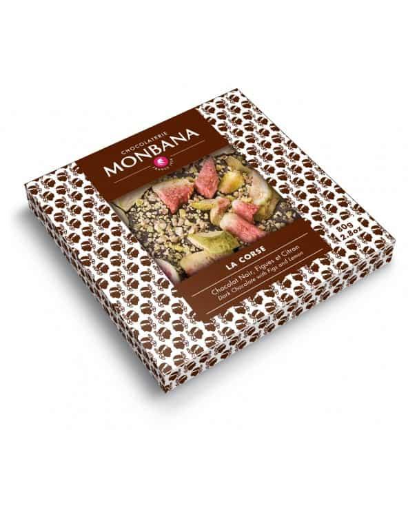 """Tablette chocolat noir """"La Corse"""" 80g"""