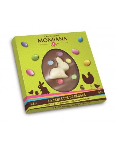 Mini Tablette de Pâques au Chocolat lait et bonbons 80g