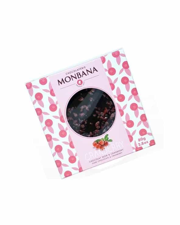 Tablette Chocolat noir et Cranberry 80g