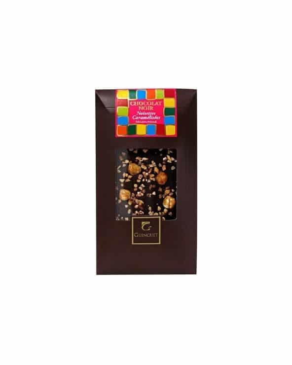Tablette de chocolat noir aux amandes caramélisées 85g