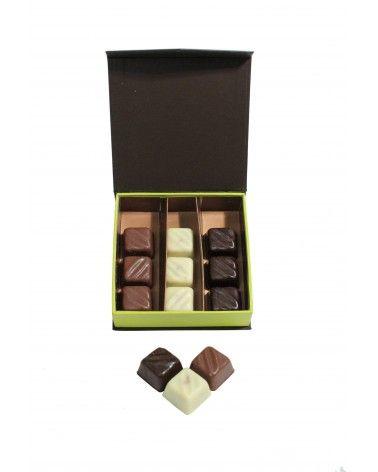 Coffret vert chocolats 125g