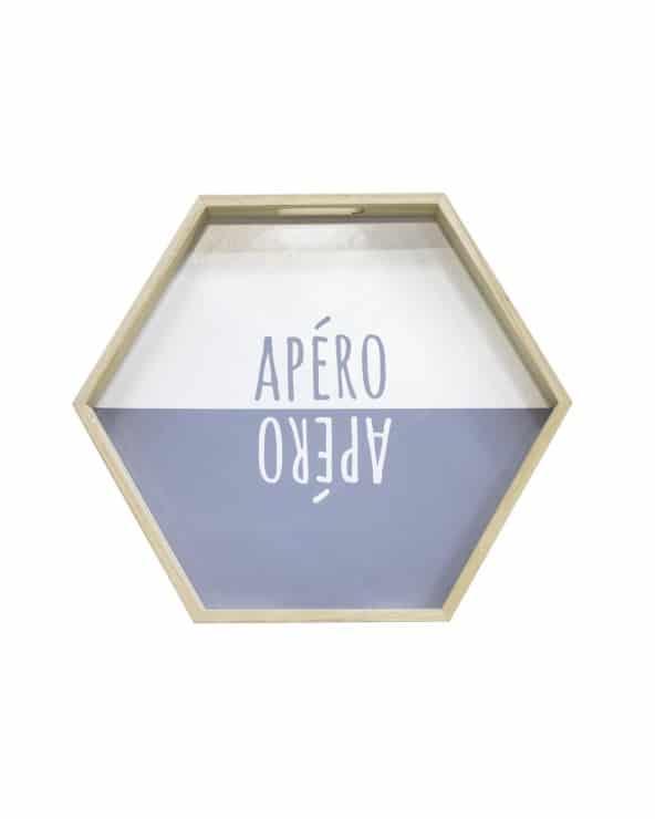 Plateau Apéro Hexagonal