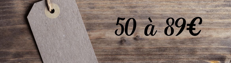 Paniers gourmands 50€ à 89€