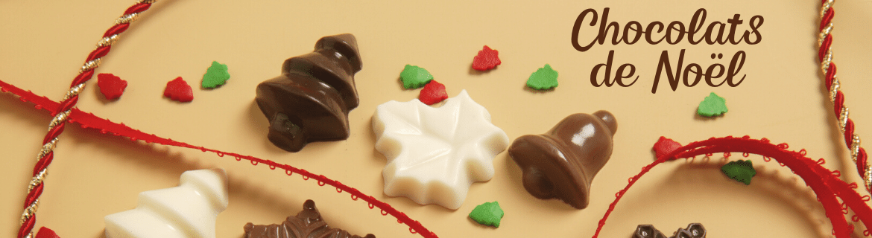 Coffrets chocolats de Noël