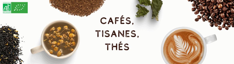 Cafés Tisanes et Thés Bio