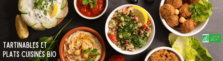 Tartinables apéritifs et plats cuisinés bio