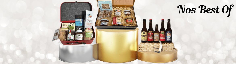 Paniers gourmands Best Of - Meilleures ventes Coffrets Garnis par régions