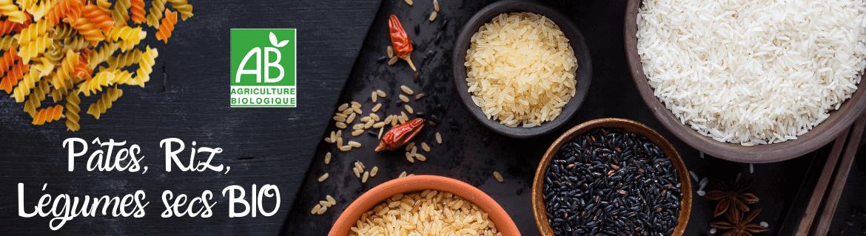 Pâtes Riz et Légumes Secs Bio