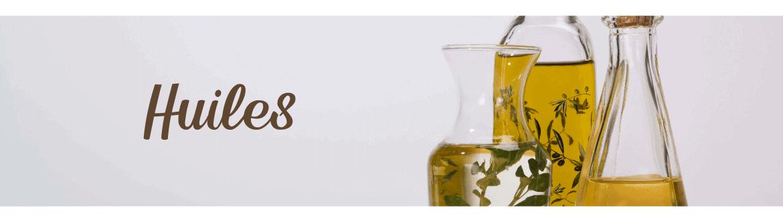 Huiles d'olive, noix, noisette - Huile de colza et huile d'argan