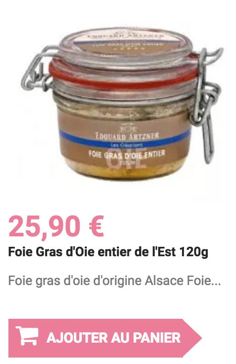 foie gras d'oie entier de l'es