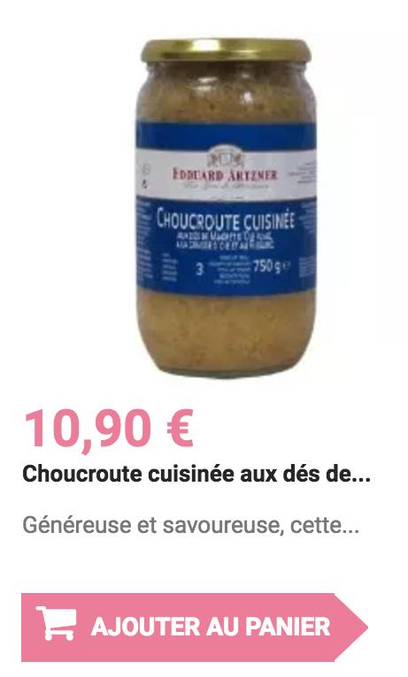 choucroute cuisiné